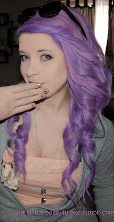 lavender hair. I don't want it for me. But I think it's amazing.