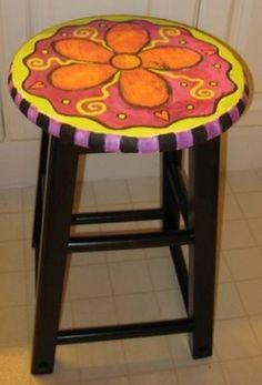 Cool Painted Stool Idea (53)