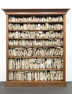 sculpture by Stéphane Thidet Things Organized Neatly, Digital Museum, To Infinity And Beyond, Art Moderne, Assemblage Art, Recycled Art, Wall Sculptures, Rock Art, Installation Art