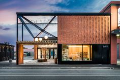 Completed in 2018 in Christchurch, New Zealand. Images by Stephen Goodenough. Located on a historic transport route between Christchurch and the ferry terminal, the new Woolston Community Library stands on the aptly named Ferry. Contemporary Home Decor, Contemporary Design, Discount Bedroom Furniture, Terrazo, Look Office, Community Library, Brick Facade, Modern Bedroom Design, Innovation Design