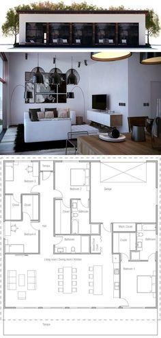 New small house modern floor plans Small Floor Plans, Modern Floor Plans, Modern House Plans, Small House Plans, House Floor Plans, Modular Home Plans, Modular Homes, Small Modern Home, Floor Plan Layout