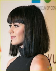Katy Perry & Dianna Agron Rock the Red Carpet at MOCA's Anniversary Gala!: Photo Katy Perry shows off some leg at MOCA's Anniversary Gala presented by Louis Vuitton welcoming new Director Philippe Vergne at The Geffen Contemporary at The… Dark Bob, Bob Hairstyles With Bangs, 35th Anniversary, Dianna Agron, Her Music, Katy Perry, Her Style, Red Carpet, Long Hair Styles
