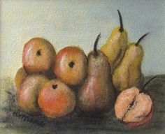 Äpel_Birnen, Acryl, 40x30 cm