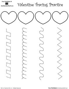 10 FREE Valentine's Day Tracing Worksheets for Kids Preschool Writing, Preschool Worksheets, Preschool Learning, Early Learning, Preschool Activities, Tracing Worksheets, Valentine Theme, Valentines For Kids, Valentine Day Crafts