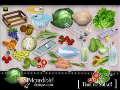Funny Kitchen series - Time To Salad. More clutter for your sims ^^  Found in TSR Category 'Sims 3 Kitchen Sets'