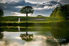 Shrigley Hall Hotel, summer wedding reflections. Wedding photography by www.pixiesinthecellar.co.uk