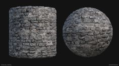 Stone Wall Material, Joakim Stigsson on ArtStation at https://www.artstation.com/artwork/lR6VG