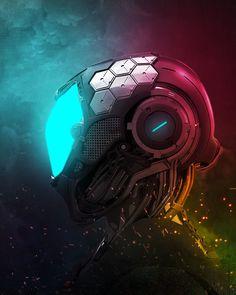 #artstation #artwork #concept #art #sci_fi #futuristic #neon #helmet #cyberpunk #art #graphic #future # # # # # # # # Robo_Kris  //  Kris Ugoh