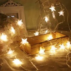 In Quality Smart Pvc Bulbs Globes Balls Five Pointed Star Fairy String Lights Led Lamps Christmas Party Decoration 220v Led Star Curtain Light Superior