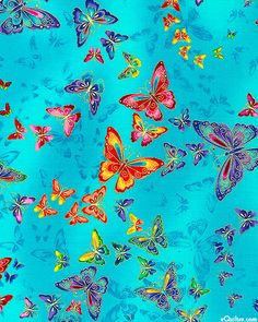 Tiffany - Butterfly Swirls - Turquoise/Gold