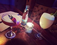Enjoying cocktails in Nottingham!