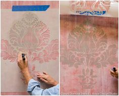 Fabric Texture Wall Finish for Painting Walls - Royal Design Studio wall stencils