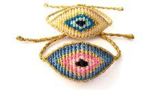 Evil Eye Bracelet, Macrame Bracelet, Protection Bracelet Macrame Necklace, Macrame Bracelets, Dangle Earrings, Crochet Earrings, Evil Eye Bracelet, Polymer Clay Earrings, Dangles, Unique Jewelry, Handmade Gifts