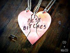Friendship Necklace  Best Bitches Best by OuroborosDesignsLA, $60.00
