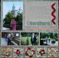 Opportunity for lots of photos without embellishments overpowering photos. Travel scrapbook layout