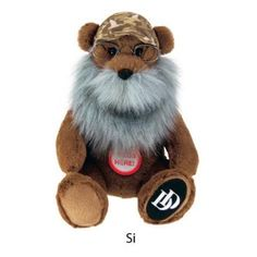 Duck Dynasty 8 inch Plush Bear with Beard and Sound, Si, Brown