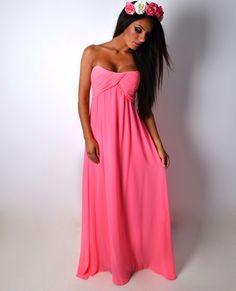 Click to shop >> http://www.pinkboutique.co.uk/shop/azalea-pink-padded-lightweight-maxi-dress x #maxidress #dress #summer