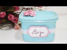 Como Fazer Pote de Margarina Decorado - Reciclagem - Passo a Passo - Segredos de Aline - YouTube