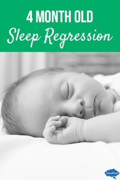 Is your 4 month old sleeping worse than before and waking at night? Here's some helpful info on sleep regression and tips for infant sleep problems!