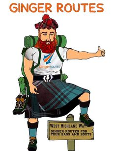 West Highland Way Ginger Routes For Your Bags And Boots Paisley Scotland, West Highland Way, Pet Travel, Baggage, You Bag, Glasgow, Tent, Boots, Fictional Characters