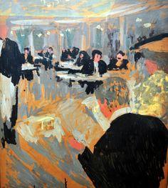 Edouard Vuillard - Cafe Scene, 1910 Neue Pinakothek Art Museum Munich Germany