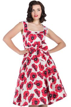 Brand New to Lady V London, the Annabella Dress features a 1950s style flared skirt, and has a...
