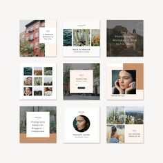 Paloma Social Pack - Station Seven WordPress Themes Social Media Template, Social Media Design, Social Media Graphics, Photoshop, Instagram Design, Instagram Posts, Free Instagram, Instagram Feed, Identity