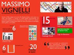 Infografía Sobre el diseñador Massimo Vignelli