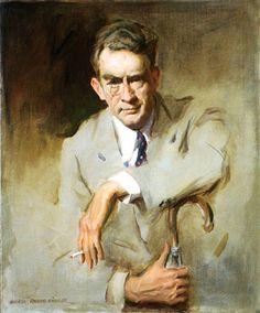 James Montgomery Flagg, 1956 by Everett Raymond Kinstler.  National Portrait Gallery