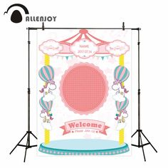 Allenjoy photo background Unicorn custom hot air balloons background for photo fund for the photo fund photo booth