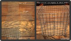 DIY BASKETS :: How to make SQUARE  ROUND baskets out of hardware cloth! |