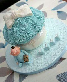 Boy christening Giant cupcake cake