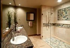 Buy and customize frameless shower screens online to fit your bathroom. Customize the shape, size, hardware and tint of your shower glass panel. Bathroom Pictures, Bathroom Ideas, Bathroom Designs, Shower Designs, Bathroom Styling, Bathroom Inspiration, Shower Ideas, Glass Shower Doors, Shower Screens