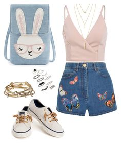 """""""Untitled #77"""" by sanebrooke on Polyvore featuring Valentino, Sperry, Topshop, Majique and Jules Smith"""
