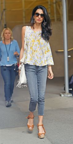 """Love this ... now I know how to """"wear"""" my new fringe bag ... Amal Clooney's Most Stylish Looks Ever - April 19, 2015  from InStyle.com"""