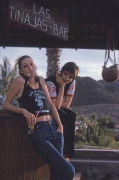 Angelica Huston and Liza Minnelli