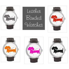 Leather Band Watch | Dachshund Silhouette – The Smoothe Store