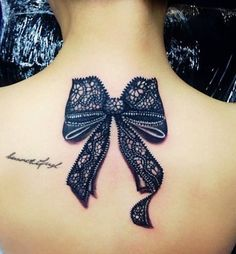 Lace Bow Tattoo | Love This Lace Bow Tattoo Would Look Fab In White