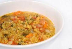 13 laktató leves vacsorára ~300 kalóriából   NOSALTY Vegetable Dishes, Chana Masala, Cheeseburger Chowder, Soup Recipes, Risotto, Vegetables, Cooking, Ethnic Recipes, Food