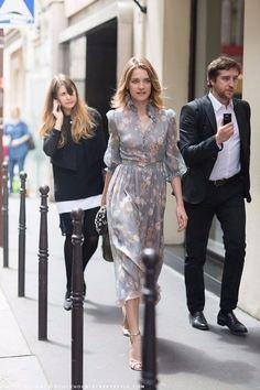 Natalia Vodianova—as seen on Carolines Mode Natalia Vodianova, Look Fashion, Spring Fashion, Womens Fashion, Street Fashion, High Fashion, Style Feminin, Mode Crochet, Street Style Outfits