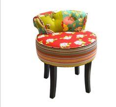 Petit fauteuil boudoir Patchwork - Rouge | Pour marie | Pinterest