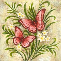 Butterflies-Red by Elena Vladykina | Ruth Levison Design