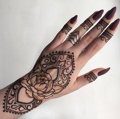 Floral wrist piece by Anna