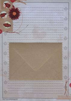 Briefpapier set (10-delig)   Autumn butterflies