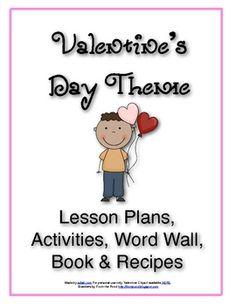 V is for Valentine's Day Themed Lesson Plans for Preschool (or Kindergarten supplemental material)