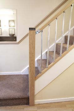 Hall and stairs on pinterest staircases oak stairs and for Stair and railing solution