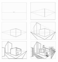 Architectural sketches 691372980285411431 - College Essen PLO: Lektion Perspektive College Essen PLO: Lektion Perspektive, Source by Sketchbook Architecture, Architecture Concept Drawings, Architecture Design, Parametric Architecture, Architecture Portfolio, 2 Point Perspective Drawing, Perspective Art, Interior Design Sketches, Art Worksheets