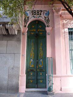 Door in Sal Telmo Buenos Aires, Argentina~ photo by Andrew Howe, via Flickr,