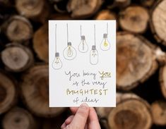 Brightest of Ideas Affirmation Card Karten Diy, Paper Trail, Affirmation Cards, Mothers Day Cards, Birthday Cards, Birthday Images, Birthday Quotes, Birthday Greetings, Happy Birthday