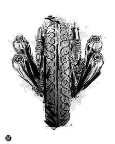 Motos d& - Sketchmybike . Motorcycle Tattoos, Motorcycle Art, Motorcycle Design, Bike Art, Classic Motorcycle, Motorcycle Birthday, Biker Tattoos, Moto Custom, Motos Honda